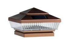 2-Pk Copper/Texture/Expresso/Bronze/Brown/Grey 4 x 4 Solar Post Caps