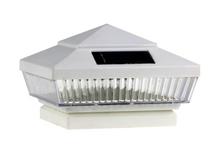 2-Pk White/Almond/Silver 4 x 4 Solar Post Cap