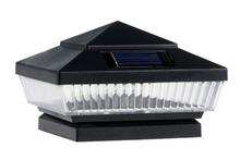 2-Pk Black/Texture/Raindrop Black 4 x 4 Solar Post Caps