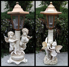 2-Pack Boy Girl or Twin Angel Solar Lights