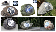 Dark Grey Solar Power Rock/Seashell Spotlight Series