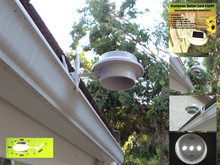 Gutter Security Ultra Bright 3 LED Solar Light
