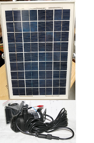 Solar Panels & Submersible 30/40/50 Watt Water Pump Combos