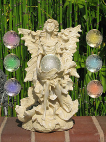 Angel With Wings with White Ball Solar Light