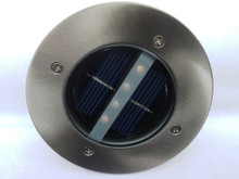 2-Pack Outdoor Garden Stainless Steel Patio Deck Solar Light 4 LEDs