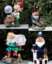 Outdoor Garden Decor Gnome/Dwarf Solar Landscape Light LED