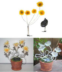 Outdoor Garden Decor Flower Solar Landscape Light 5 LEDs