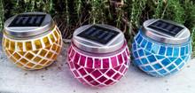 Solar Garden Decor Mosaic Pot Light