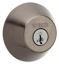 Weiser Lock Single Cylinder Keyed Entry Deadbolt with SmartKey Cylinder