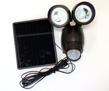 Venetian Bronze Dual Solar Security Flood Spot Motion Sensor Light LEDs
