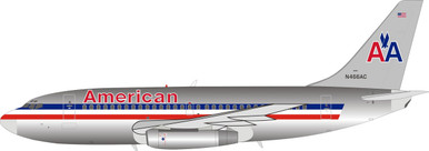 Inflight200 American Airlines Boeing 737-200 N466AC Polished IF732AA0419P 1:200