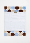 Blue Latte Choc Retro Dot Burp Cloth