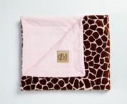 Safari Blanket Giraffe Pink