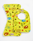 Zoo Friends Bib & Burpie Set