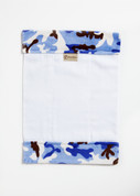 Camoflage Blue Burp Cloth