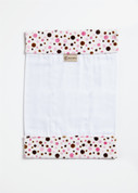 Multi Bubbles Pink Burp Cloth