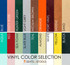 Vinyl color selections for Breuer Upholstered Seats and / or Backs