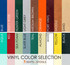 "Vinyl color selection for Square Bar Stool Base with 14"" Round Seats  