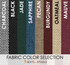 "Fabric color selection for square bar stool base with 14"" round seats 