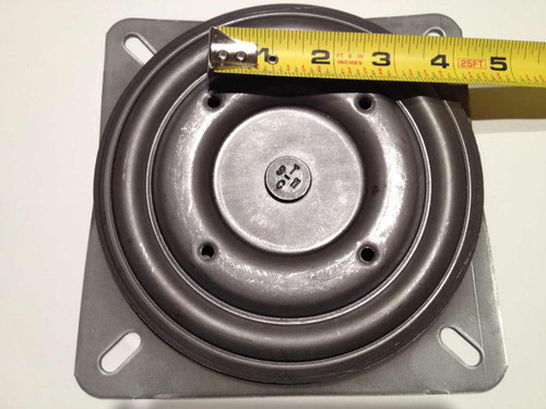 Tilted ( 3 Degree Pitch ) Replacement Bar Stool Swivel Plates for bar stools and chairs that have backs.