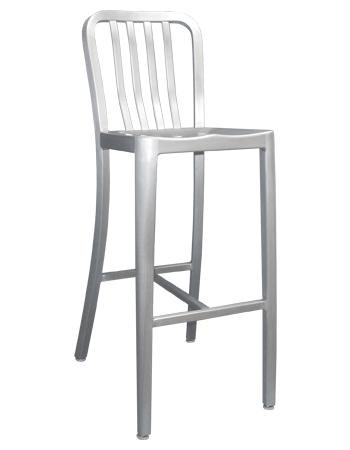 Etonnant The Rosa Outdoor Aluminum Bar Stool Sports A Contemporary Slat Back Style,  And Features A