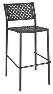 Lola Metal Outdoor Bar Stool