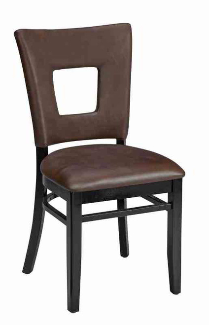Open Back Dining Chair Upholstered Wood Chair Seats