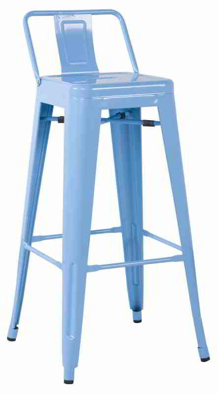 Wondrous Galvanized Metal Low Back Bar Stool Set Of Four Squirreltailoven Fun Painted Chair Ideas Images Squirreltailovenorg