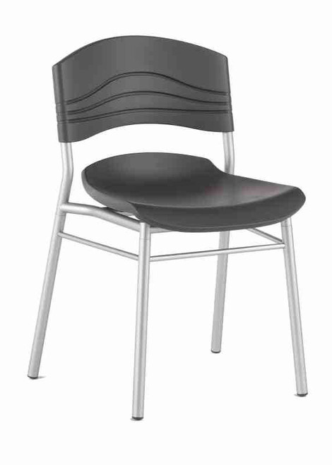 Iceberg CafeWorks Cafe Chair (Set of Two). Pictured: individual chair, front/side view.