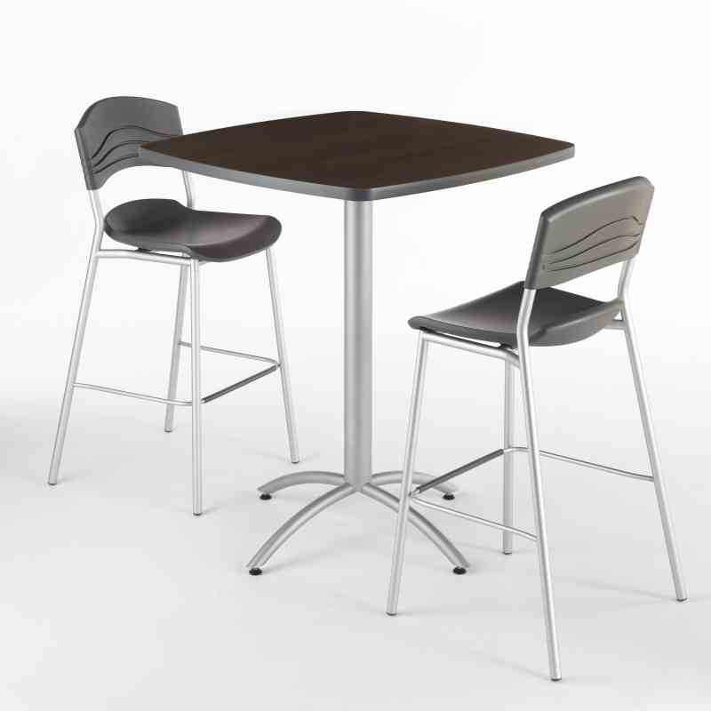 Awe Inspiring Iceberg Cafeworks Bistro Table And Stools Set Gmtry Best Dining Table And Chair Ideas Images Gmtryco