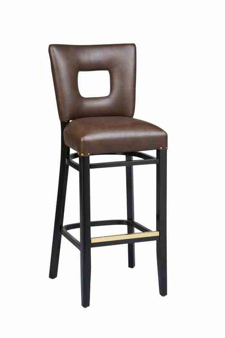 "Our Jade Open Back Bar Stool is made from solid beechwood and is built to withstand commercial use. Create the perfect look for your home, restaurant or bar by choosing from a variety of wood finishes, a large fabric and vinyl selection, and multiple frame sizes. More about it:   - 31"" Height Stool  45"" H X 18"" W X 20"" D - 24"" Height Stool  38"" H X 18"" W X 20"" D - 26"" Height Stool  40"" H X 18"" W X 20"" D"