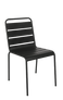 This outdoor steel chair features: Durable Steel Frame for Outdoor Home or Commercial Use, Stackable Build, and Powder-Coated Finish. Also available in brown.