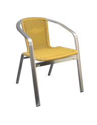 This outdoor chair will add a clean, natural aesthetic to your home, restaurant or bar patio. Features Include: Durable Aluminum Frame for Outdoor and Commercial Use, Synthetic Bamboo Seat and Back in Natural Finish, and Armrests for Maximum Comfort.