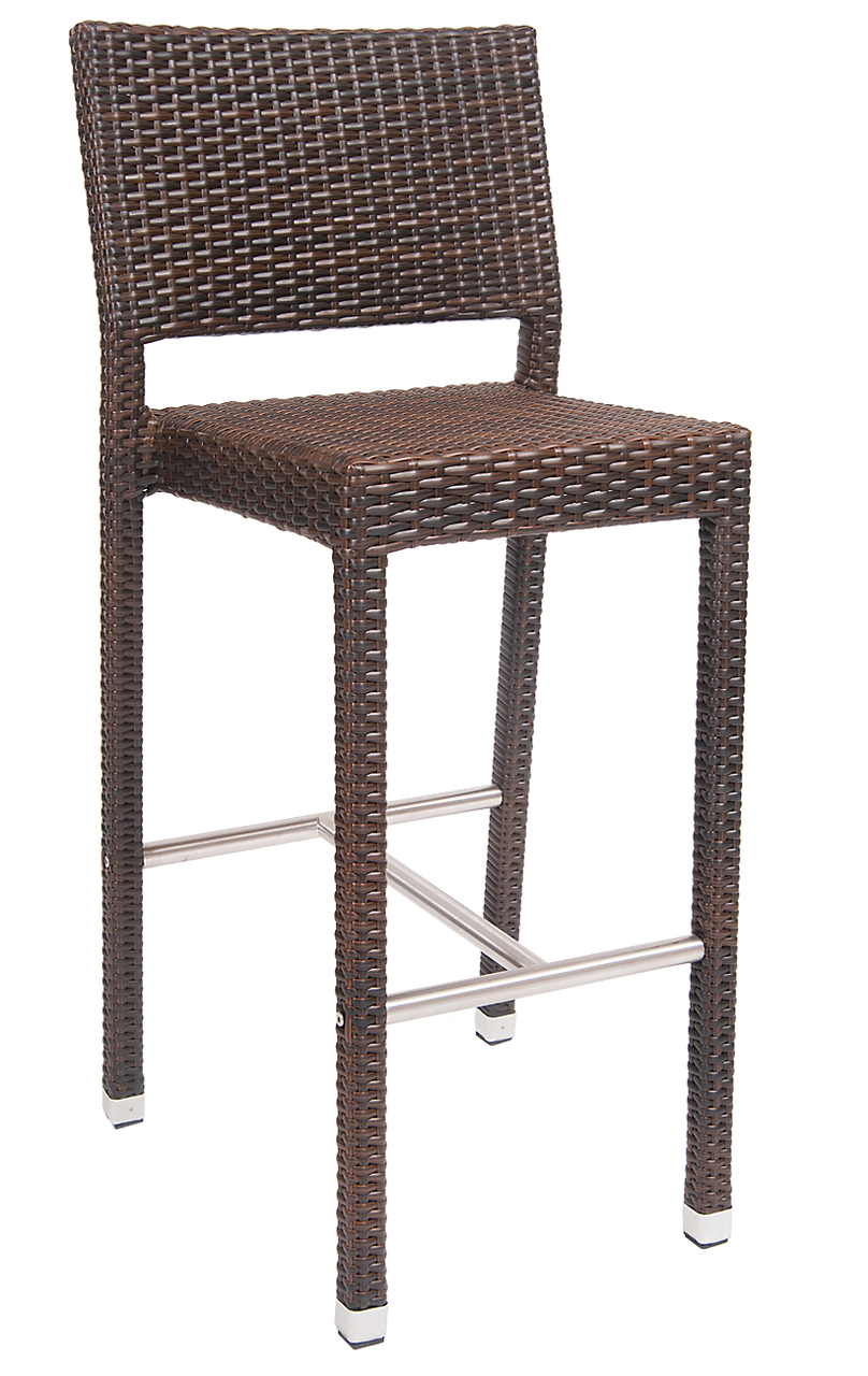Incredible Noble Poly Woven Outdoor Bar Stool Andrewgaddart Wooden Chair Designs For Living Room Andrewgaddartcom