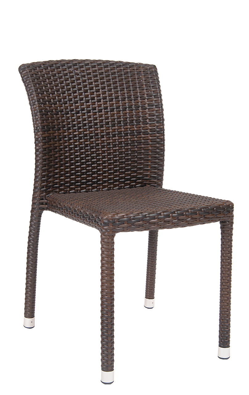 Outdoor Wicker Dining Chair Armless Wicker Chair