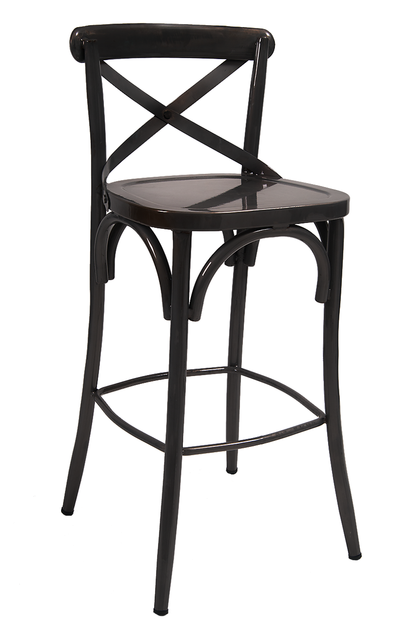 Marvelous Cross Back Bar Stools Gamerscity Chair Design For Home Gamerscityorg