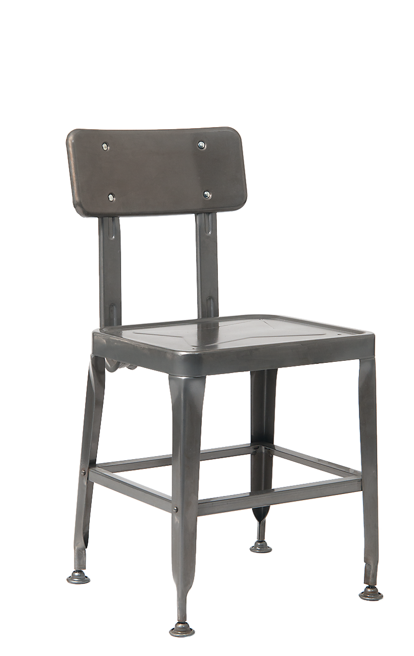 Tremendous Old School Metal Chair In Black Finish Alphanode Cool Chair Designs And Ideas Alphanodeonline