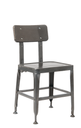Indoor/outdoor metal chair in black finish for home, restaurant or bar.