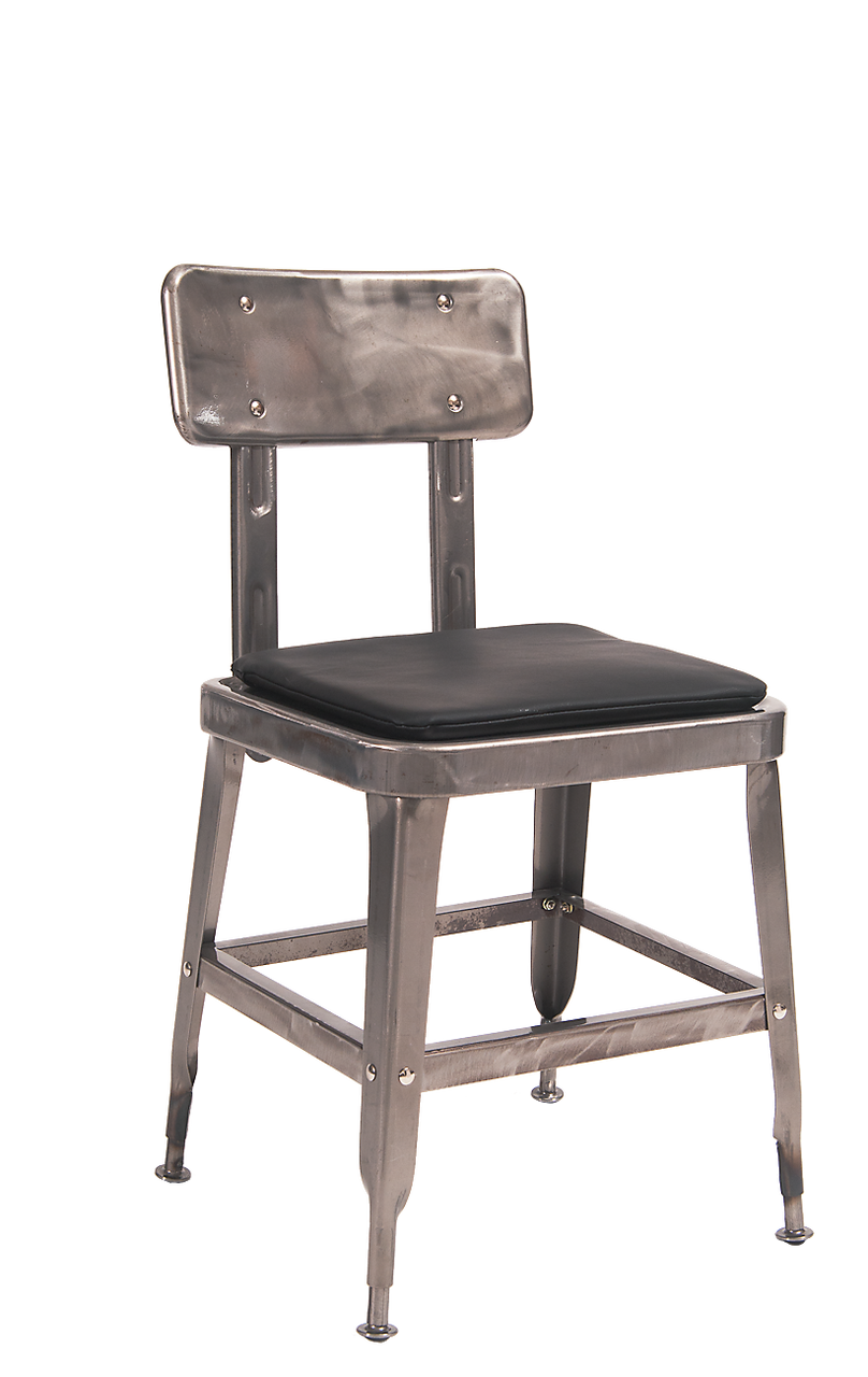 Steel Dining Chairs Steel Chair With Cushion Seats