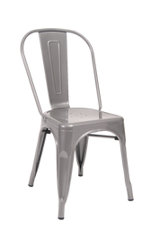 Indoor Steel Chair in grey | Seats and Stools