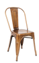 Indoor Steel Chair in gold finish | Seats and Stools