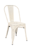 Indoor Steel Chair in antique white finish | Seats and Stools