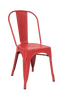 Indoor Steel Chair in antique red finish | Seats and Stools