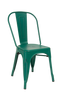 Indoor Steel Chair in antique green finish | Seats and Stools