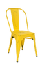 Indoor Steel Chair in antique yellow finish | Seats and Stools
