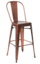 Indoor Steel Bar Stool in rose copper finish | Seats and Stools