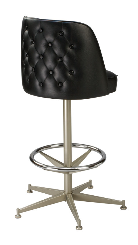 Enjoyable Tufted Mid Height Bucket Stool Dailytribune Chair Design For Home Dailytribuneorg