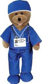 Hospital Male Scrubs Singing Bear       Bear