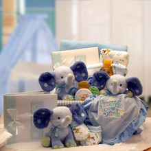 A Baby Is Heaven Sent  Gift Basket- Blue