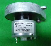 Simplex MO-114 Aperture Changer Motor, 12VDC, 72 RPM